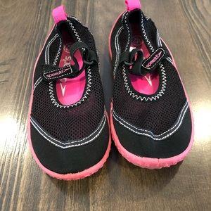 Pink and Black Speedo Swim Shoes Size 11/12
